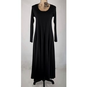 Memo | Black Long Sleeve Floor Length Dress (Sz S)